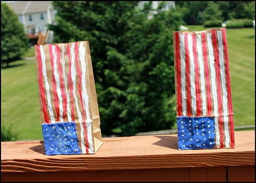 14 - Look What Mom Found - American Flag Luminaries