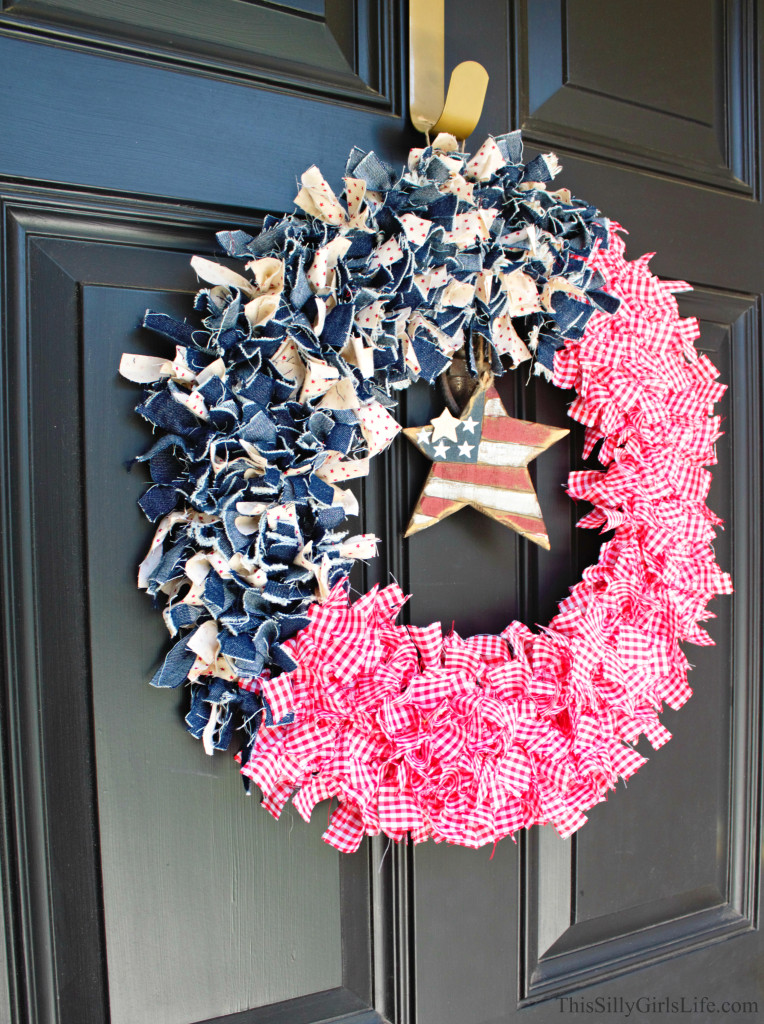 18 - This SIlly Girls Life - Patriotic Fabric Wreath