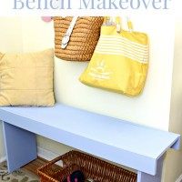 Beachy Blue Bench Makeover