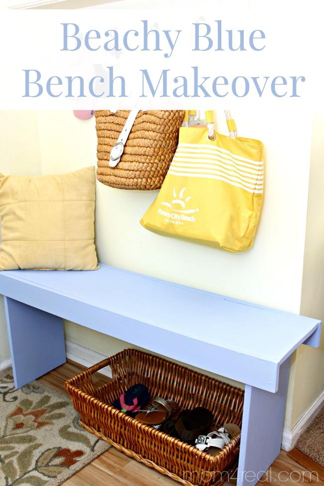 Beachy Blue Bench Makeover