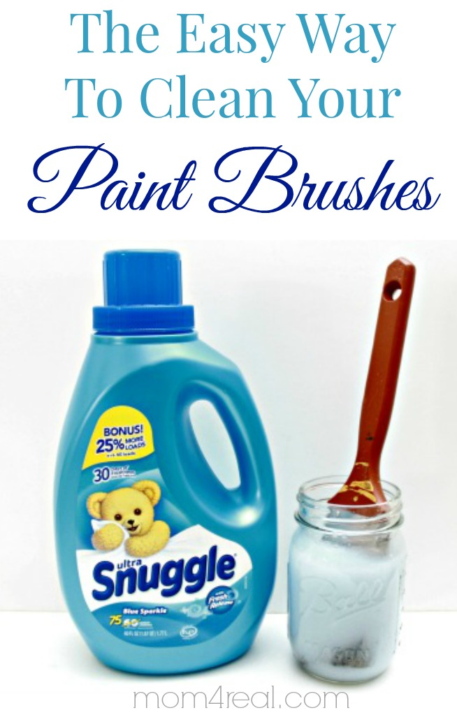 How to clean your paint brushes or paintbrush!