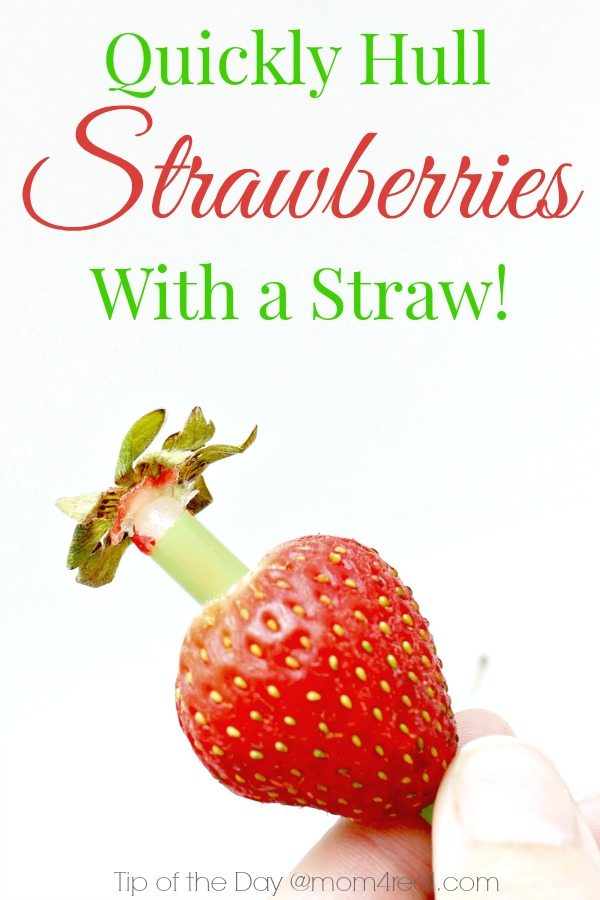How to hull strawberries and more tips and tricks at mom4real.com