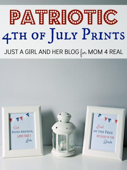 Free Patriotic 4th of July Printables