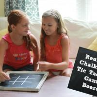 Reusable Chalkboard Tic Tac Toe Game Board