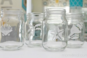 Stenciled Mason Jars and Lipton Sweet Tea