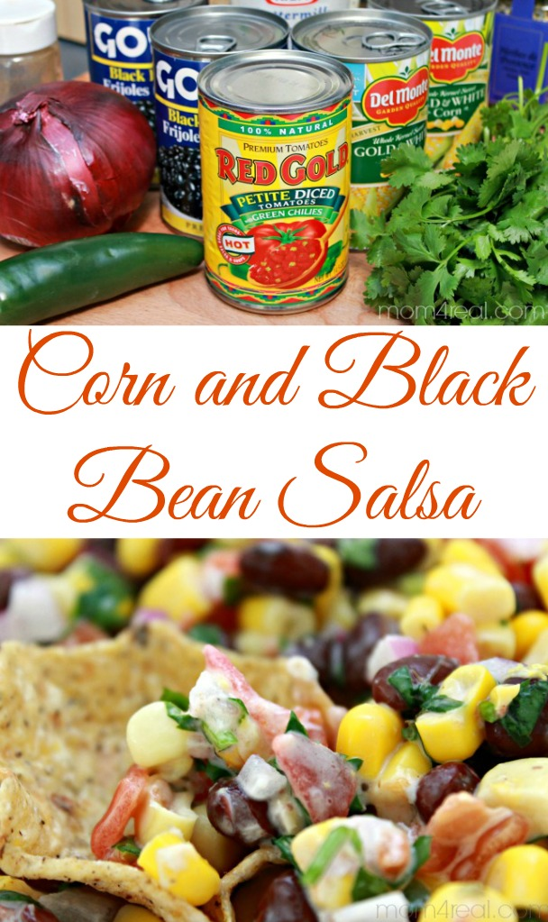 5 Minute Corn and Black Bean Salsa Recipe from mom4real.com