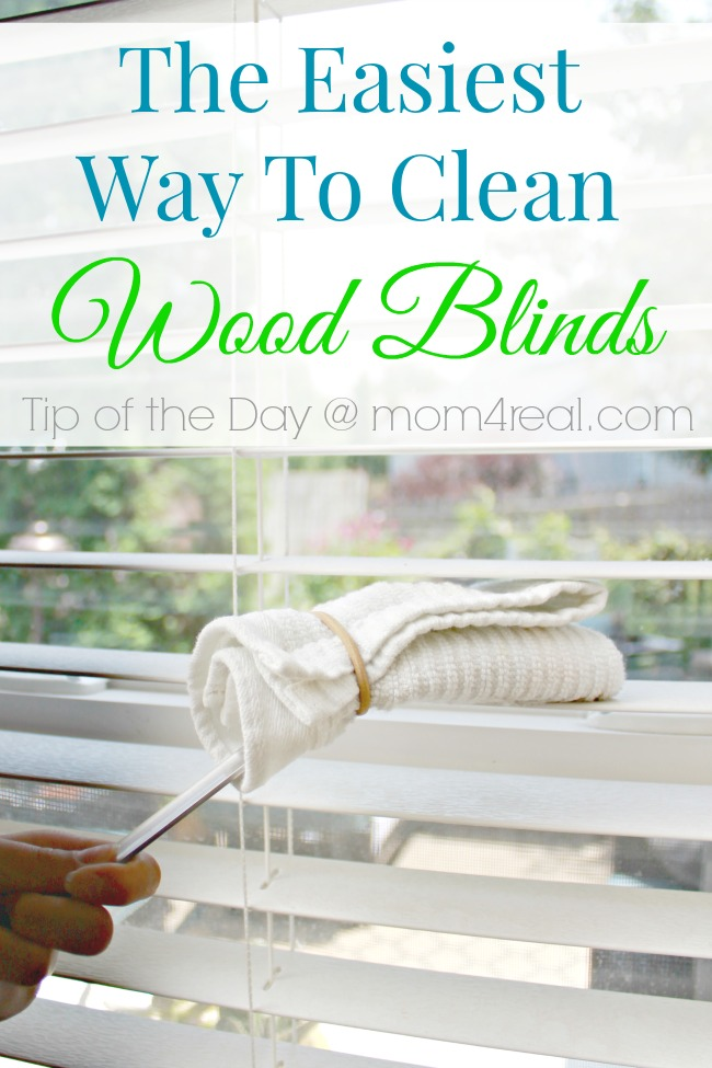 The Easy Way to Clean Wood Blinds ~ Tip of the Day