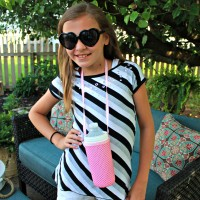 Make a Water Bottle Holder / Necklace ~ Kid Crafts