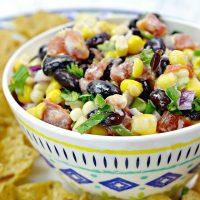 Corn and Black Bean Salsa Recipe ~ Make In Minutes