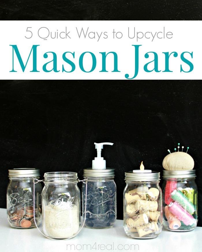 5 Quick Mason Jar Ideas That Take Minutes Mom 4 Real
