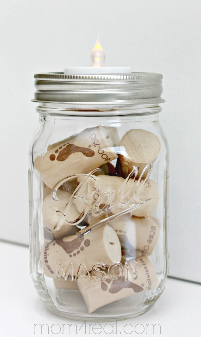 5 quick mason jar ideas that take minutes mom 4 real for Mason jar holder ideas
