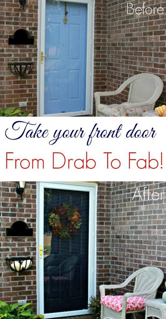 Easily change your front door with paint!