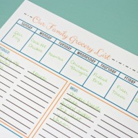 FREE Grocery List Printables ~ 3 Colors