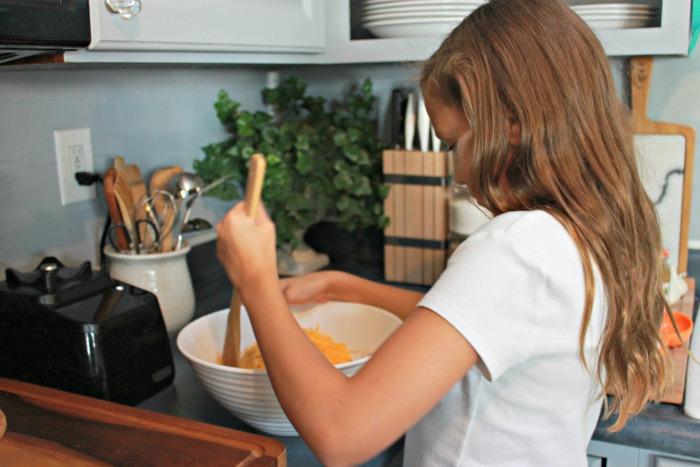 Kate-Making-a-Pumpkin-Cheese-Ball