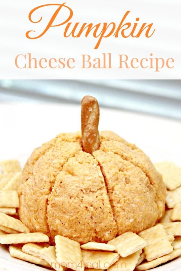 Pumpkin Cheese Ball Recipe & Fall Gift Idea!
