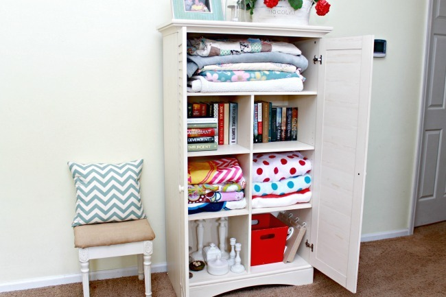 3 small space storage solutions using 1 furniture piece mom 4 real - Storage designs for small spaces image ...