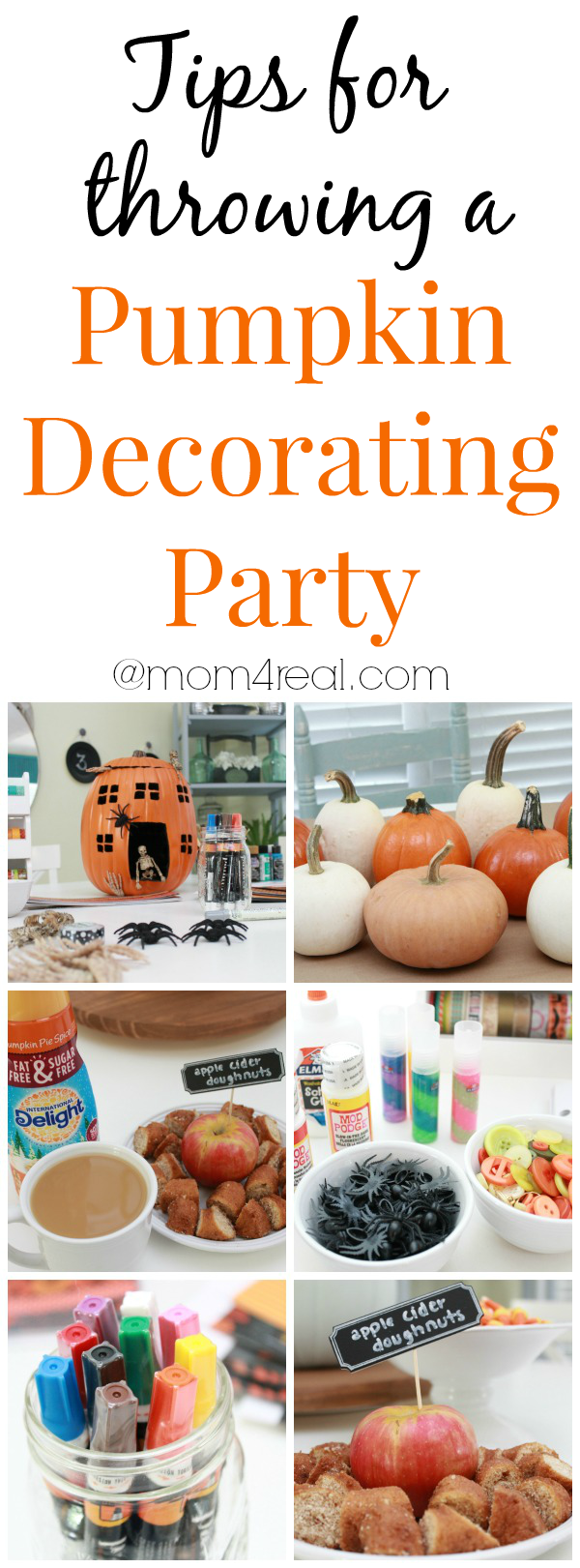 tips for throwing a pumpkin decorating party mom 4 real