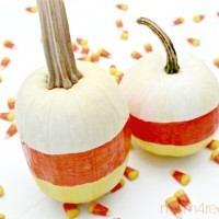 Painted Candy Corn Pumpkins