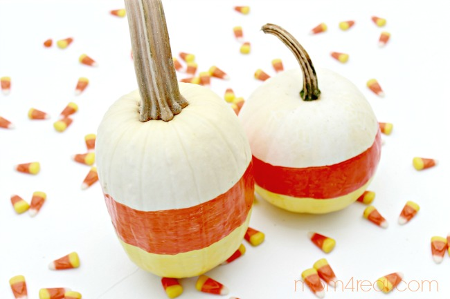 Candy-Corn-Painted-Pumpkins-For-Halloween