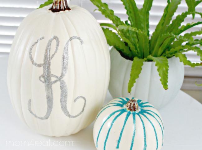 Make A Glitter Monogrammed Pumpkin