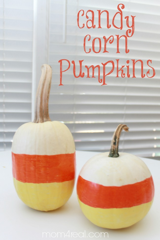 Painted Candy Corn Pumpkins for Halloween