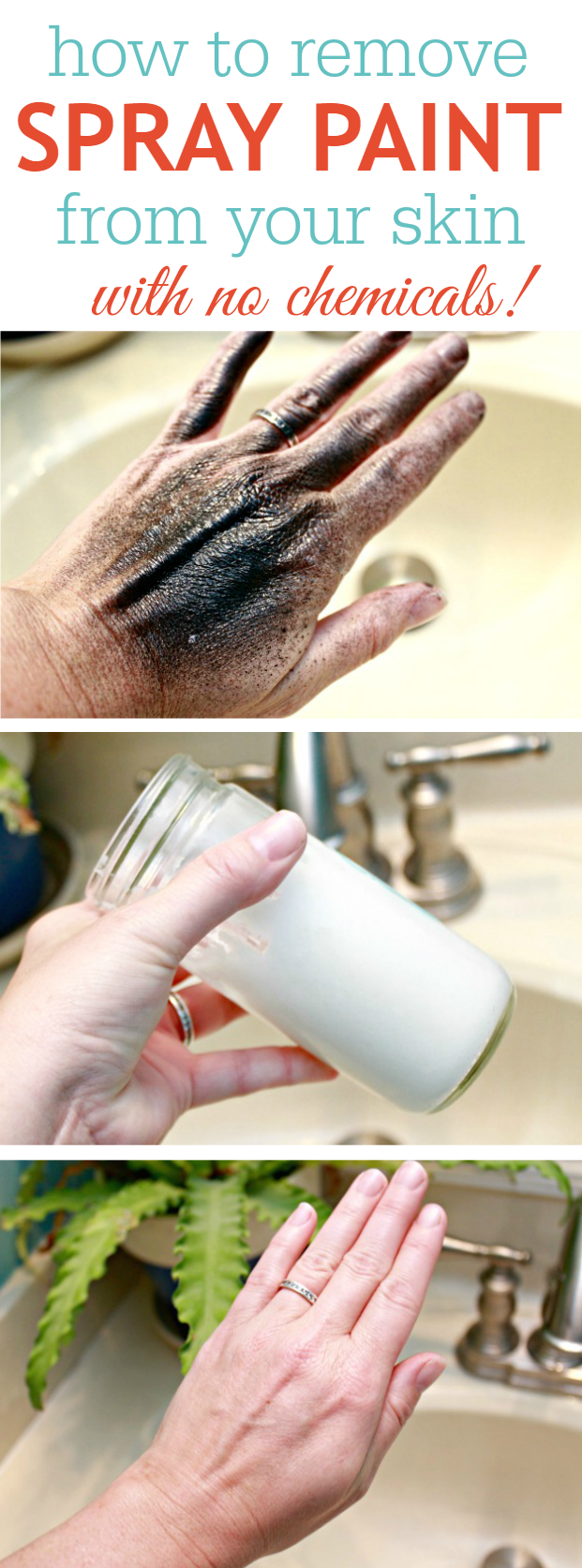 How To Remove Spray Paint From Your Skin - No Chemicals!