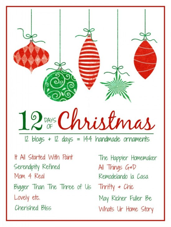 12 Days of Christmas Ornaments!