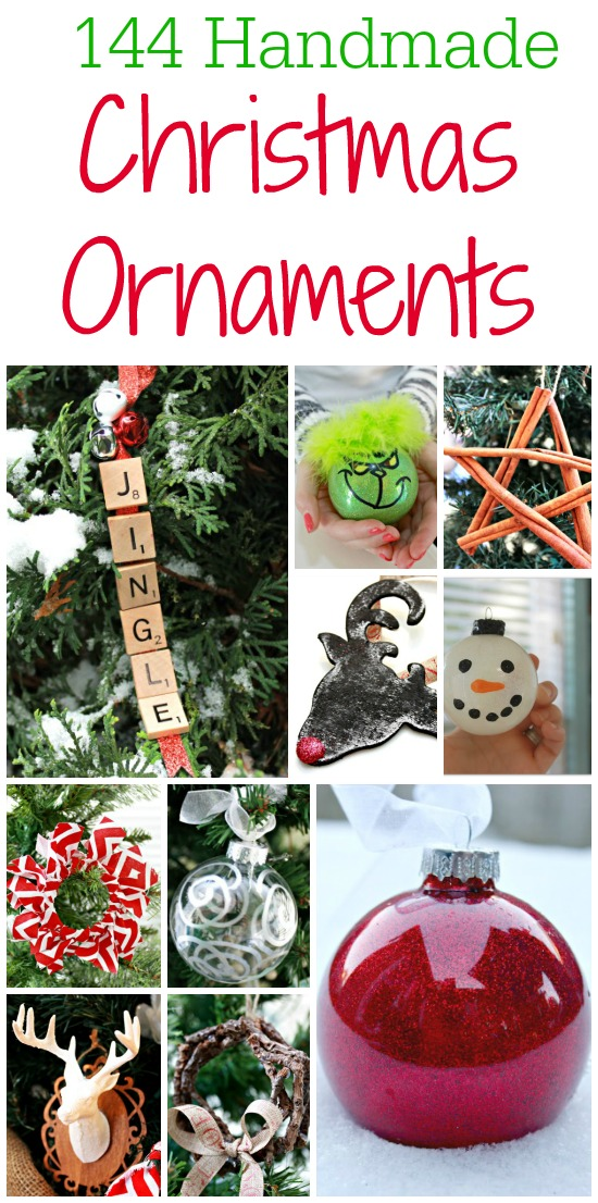 144 Handmade Christmas Ornament You Can Make Yourself and Give As Gifts or Hang On Your Own Tree