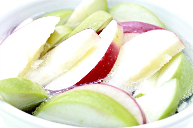 Bathe apple slices in lemon lime soda to keep them from browning!