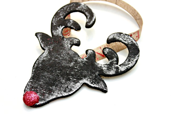Chalkboard Rudolph Christmas Ornament - 12 Days Of Christmas Ornaments - Day 2