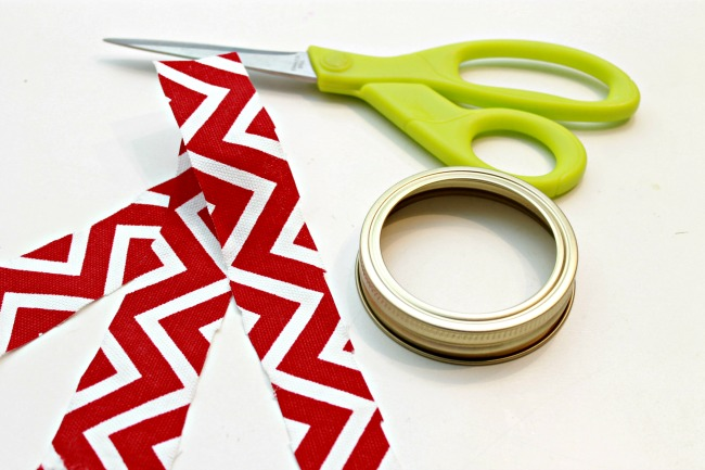 Mason Jar Ring Fabric Christmas Ornament - Day 3 of 12 Days of Christmas Ornaments