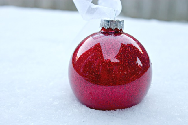 Glitter Inside Glass Ornaments – Day 10 of 12 Days of Christmas Ornaments