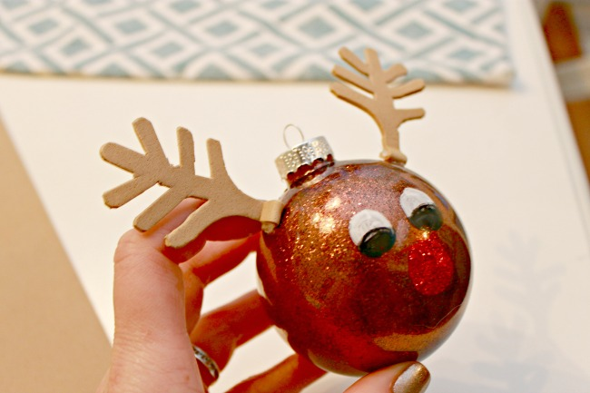 Rudolph Ornament - Day 12 of 12 Days of Christmas Ornaments