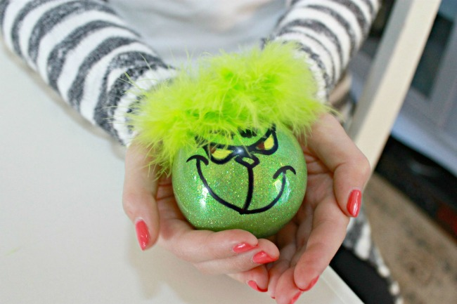 Painted Grinch Ornament