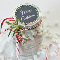 Homemade Hot Cocoa Recipe with Printable Chalkboard Labels