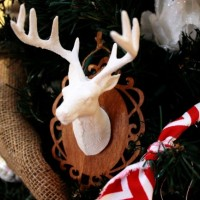 Mounted Deer Head Ornament