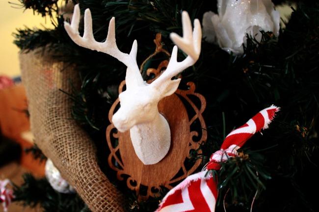 Mounted Deer Head Ornament