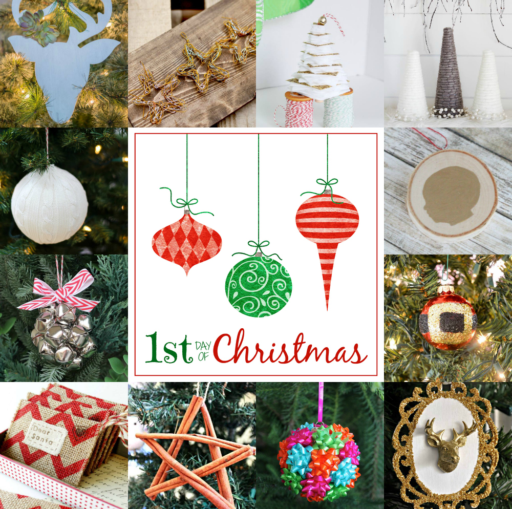 12 days of christmas ornaments day one