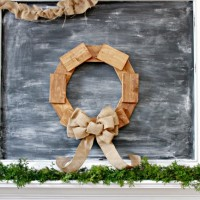 DIY Wreath Made From Scrap Wood Pieces