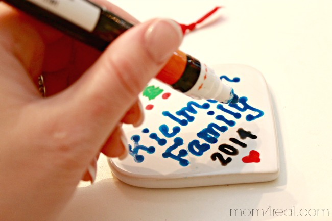 Handmade Personalized Christmas Ornaments with Paint Markers