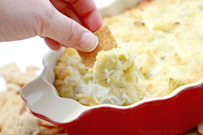 4 Ingredient Hot and Cheesy Artichoke Dip Recipe