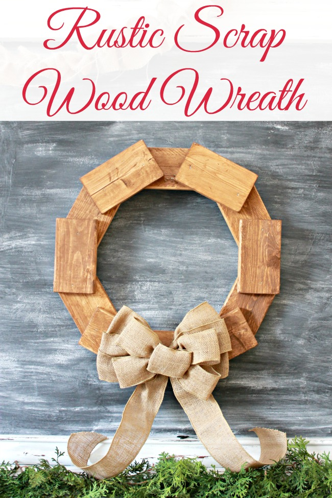Diy wreath made from scrap wood pieces mom 4 real - Scrap wood decorated house ...