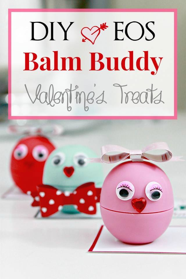 Diy eos balm buddies valentine treats with free printable for Valentine s day gift ideas for mom