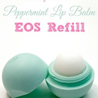 Homemade Peppermint Lip Balm EOS Refill