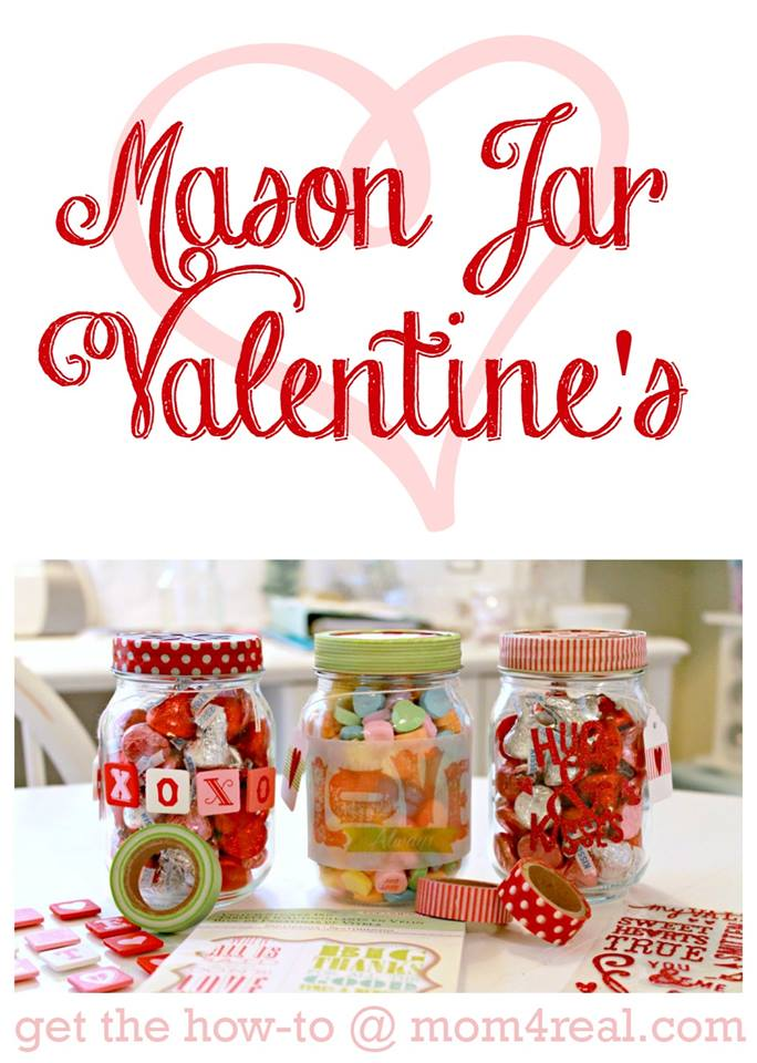 Simple Mason Jar Valentines Gift Idea