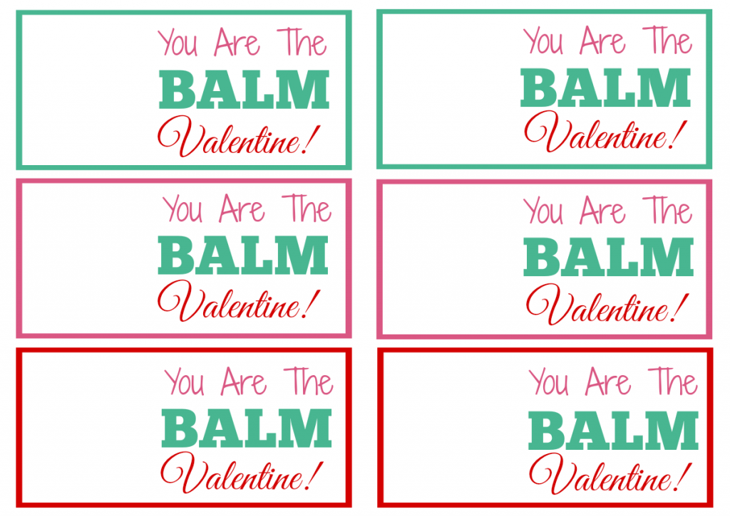 photo relating to You're the Balm Free Printable titled Do it yourself EOS Balm Friends Valentine Snacks with No cost Printable