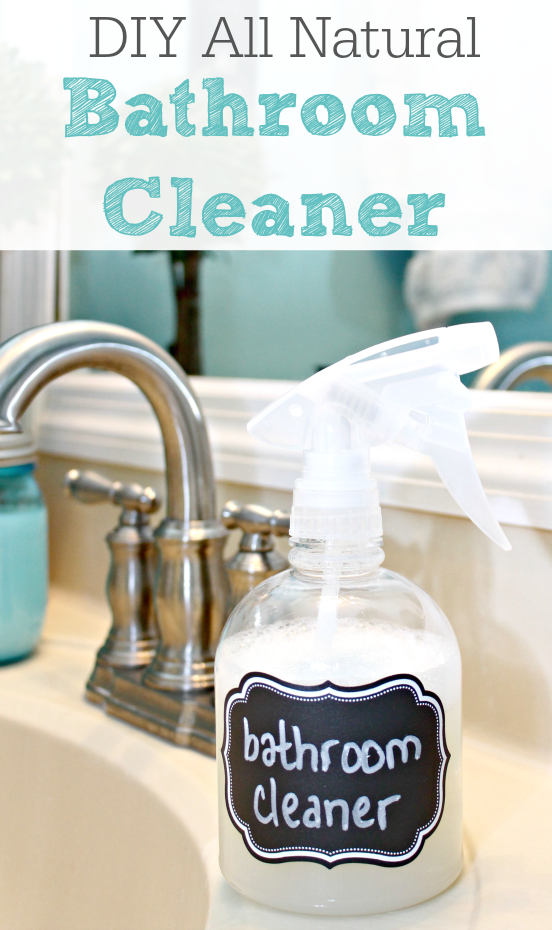 DIY All Natural Bathroom Cleaner Spray