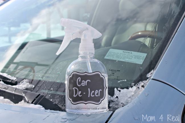 2 Ingredient Homemade Car De-Icer - Removes Ice In Seconds