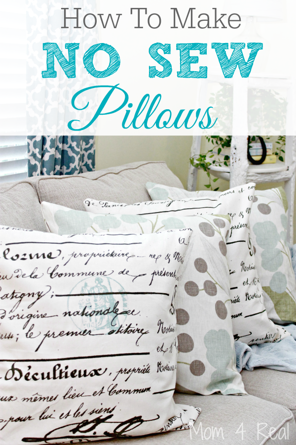 Diy Throw Pillow No Sew : How To Make No Sew Pillows - Mom 4 Real