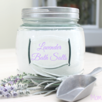 Homemade Lavender Bath Salts For Destressing and Detoxing